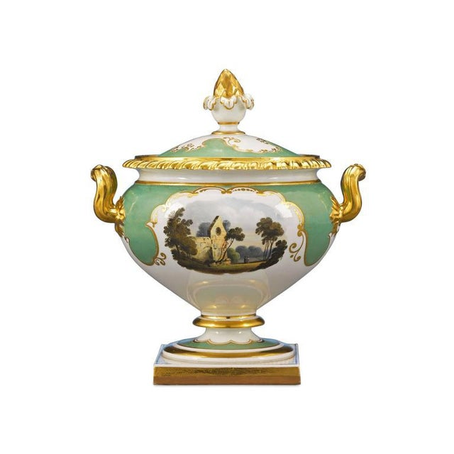 Rococo Worcester Porcelain Dessert Service For Sale - Image 3 of 5