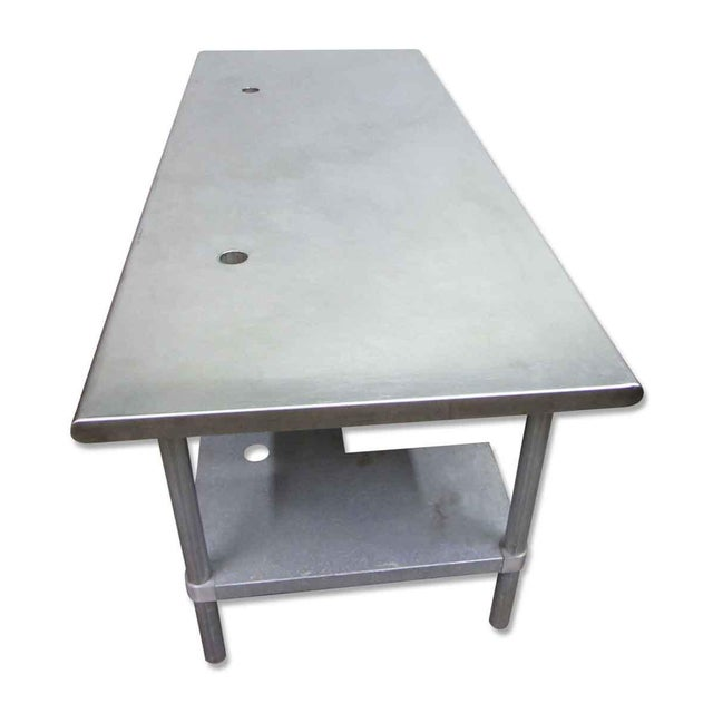 Stainless Steel Industrial Table With Shelf For Sale - Image 6 of 10