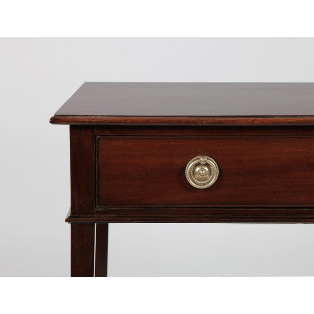 Antique English George III Mahogany Side Table For Sale - Image 4 of 8