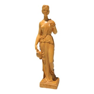Tall Grecian Goddess Diana Sculpture