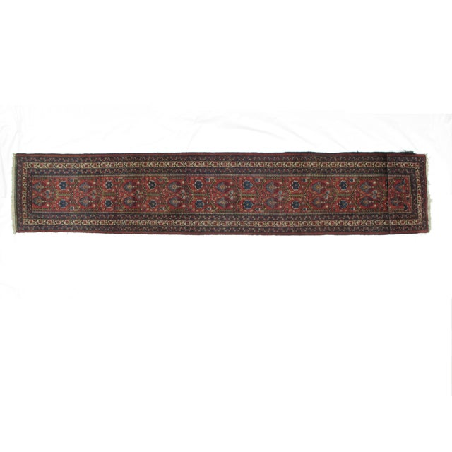 Islamic Leon Banilivi Antique Tabriz Rug - 2′4″ × 13′8″ For Sale - Image 3 of 6