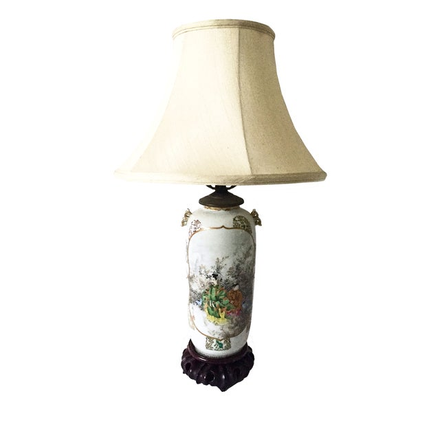 Fine Antique Japanese Porcelain Vase Mounted as a Lamp For Sale
