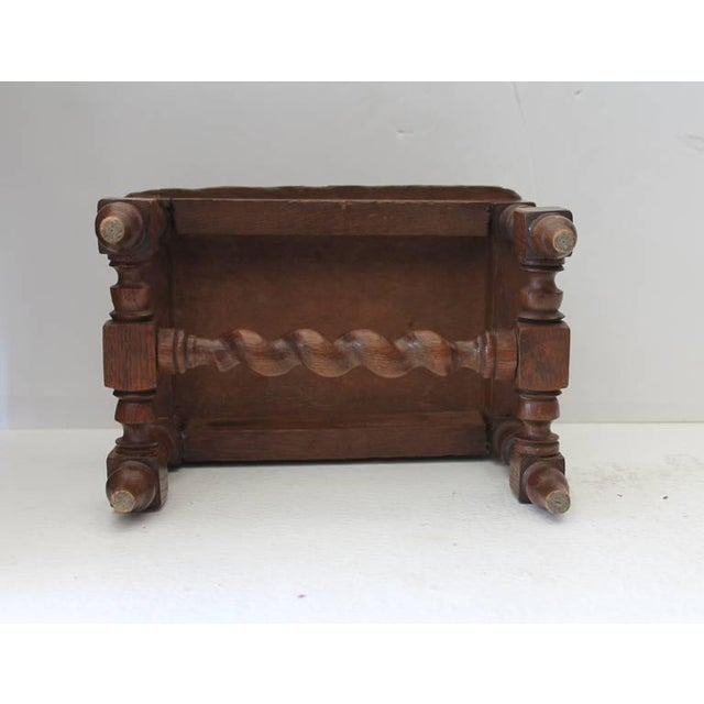 Wood Hand Carved 19Th Century English Foot Stool For Sale - Image 7 of 7