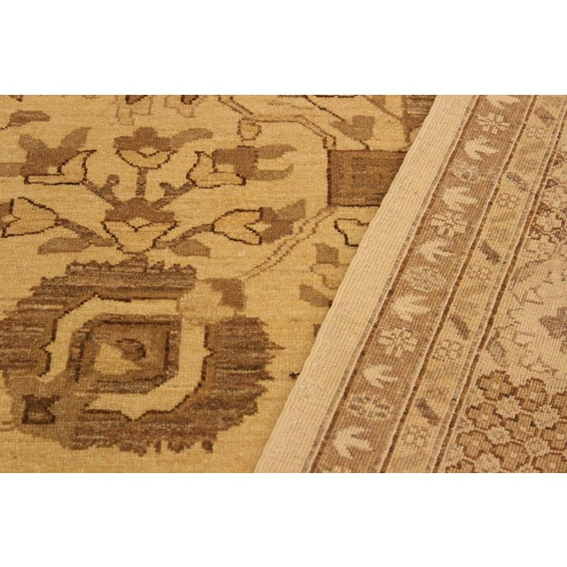 Kafkaz Peshawar Kasi Tan/Brown Hand-Knotted Rug - 8'10 X 11'9 For Sale In New York - Image 6 of 8