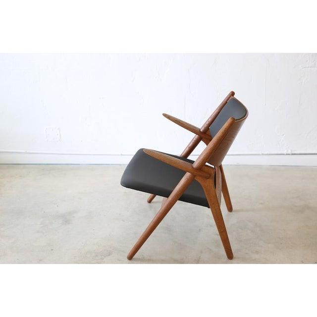 Carl Hansen & Søn Hans J. Wegner Danish Modern Sawbuck Chair Ch28 For Sale - Image 4 of 9