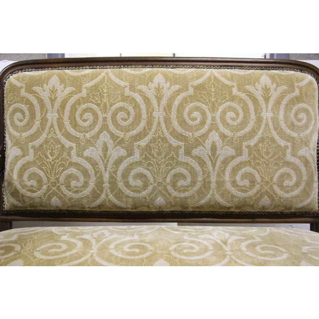 1900 - 1909 Antique French Settee Benches, Pair For Sale - Image 5 of 7