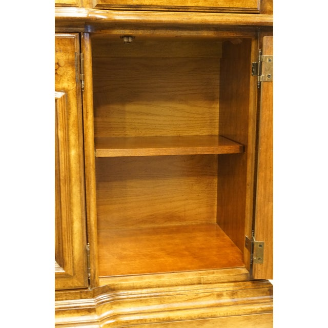 Brown 20th Century French Country Stanley Furniture Fleur De Bois China Cabinet For Sale - Image 8 of 13