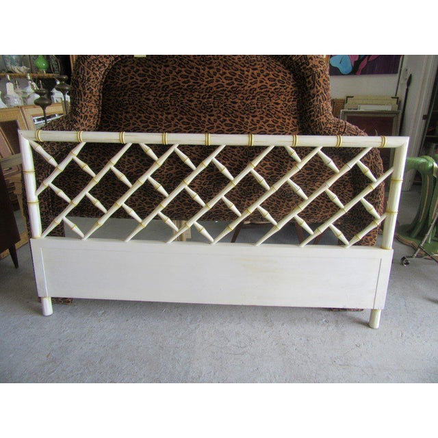 Vintage Faux Bamboo Chippendale Headboard - Image 7 of 7