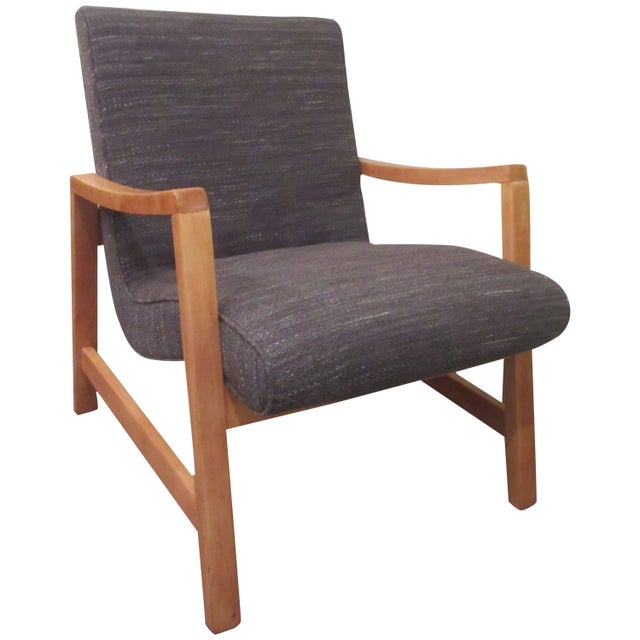 Brown Jens Risom for Knoll Associates Armchair For Sale - Image 8 of 8