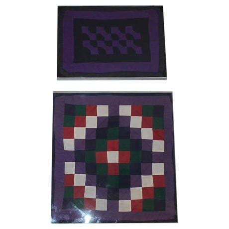 Collection of Four Rare Pennsylvania Amish Doll Quilts - Image 1 of 7