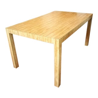 70s Contemporary Laminate Parsons Style Dining Table