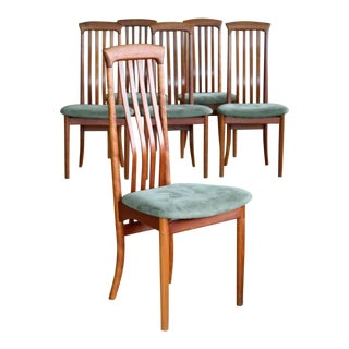 Arne Vodder Style Highback Danish Mid-Century Dining Chairs by Sibast Mobler For Sale