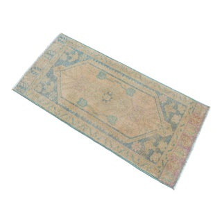Hand Knotted Door Mat, Entryway Rug, Bath Mat, Kitchen Decor, Small Rug, Turkish Rug - 1′9″ × 3′7″ For Sale