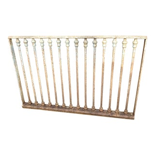 Antique Victorian Wrought Iron Railing For Sale