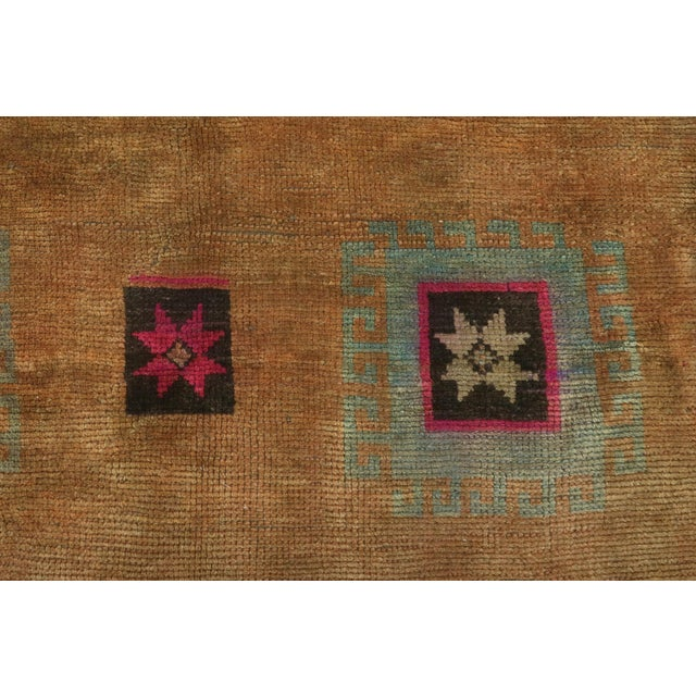 "Sienna Vintage Turkish Kilim Rug-4'3'x5'10"" For Sale - Image 8 of 13"