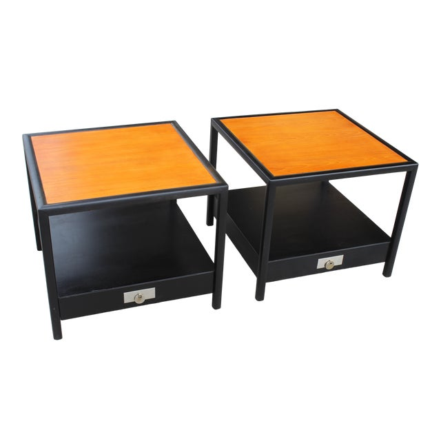 Mid-Century Baker Walnut End Tables - a Pair For Sale