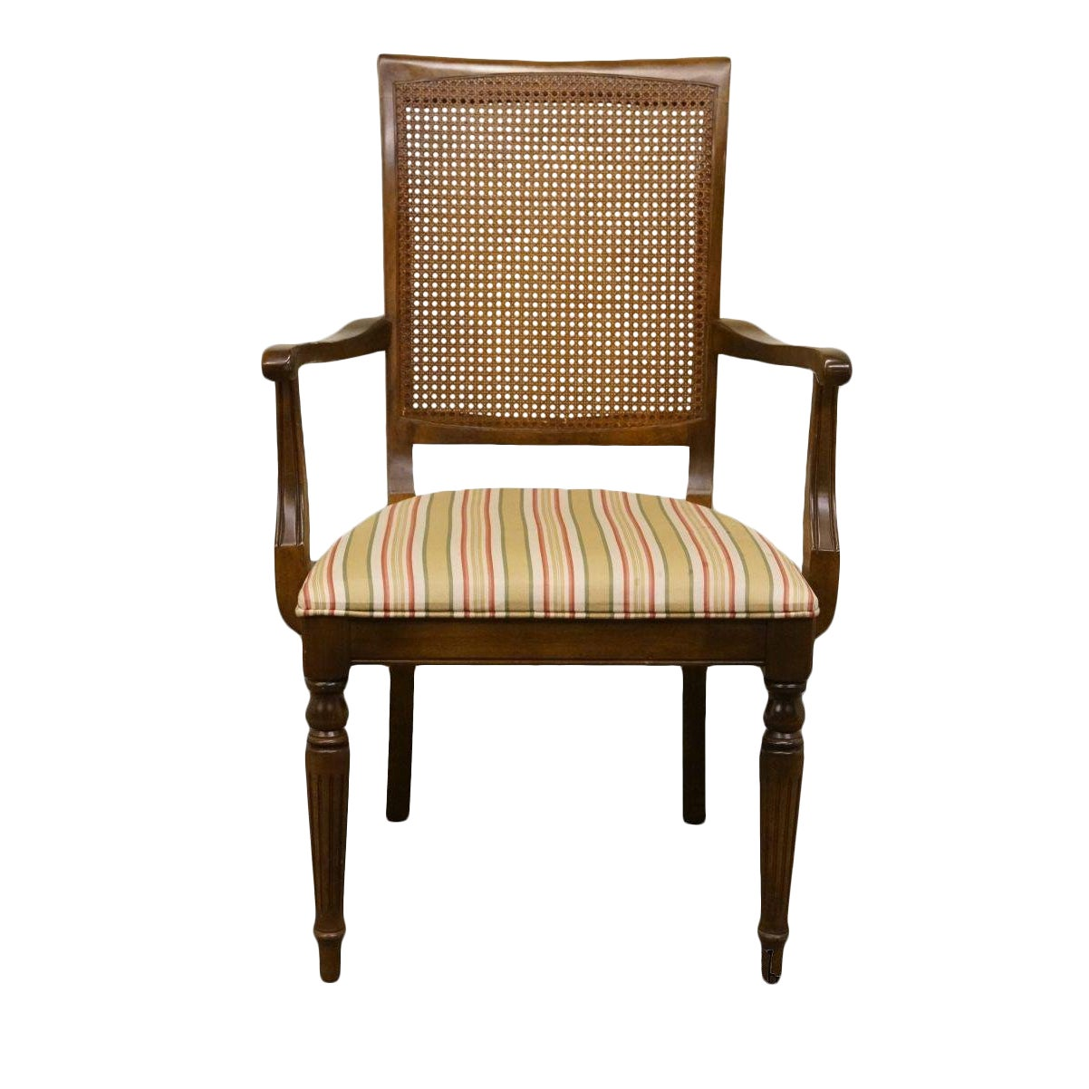 Late 20th Century Vintage Ethan Allen Cane Back Dining Chair Chairish