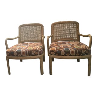 Henredon Cane Chairs - A Pair For Sale