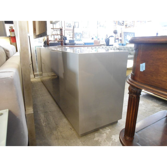 ModShop ModShop Art Deco Gray Lacquer W/ Gold Pulls Sideboard For Sale - Image 4 of 9