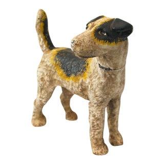 20th Century Figurative Cast Iron Fox Terrier Doorstop For Sale