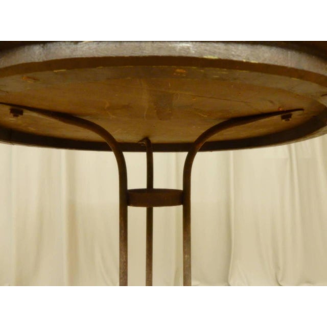 Italian Provincial Faux Marble Top Table on Iron Base For Sale In New Orleans - Image 6 of 9