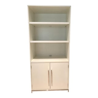 Pottery Barn White Ava Bookcase For Sale