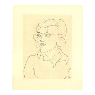 Henri Matisse, Mlle Annelies Nelck, Edition: 2850, Lithograph, 1954 For Sale