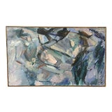 Image of Vintage Mid-Century Abstract Painting For Sale