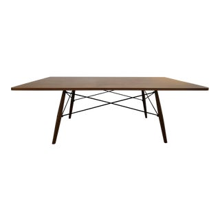 Mid-Century Modern Eames Walnut Coffee Table For Sale