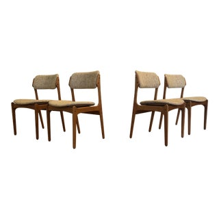 Erik Buch Model 49 Dining Chairs, Set of 4 For Sale