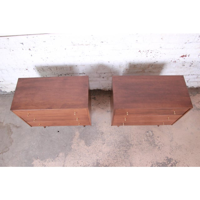 Planner Group Paul McCobb Planner Group Three-Drawer Bachelor Chests or Large Nightstands, Pair For Sale - Image 4 of 13