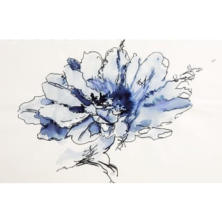 Floral Pen & Ink Drawing Study For Sale