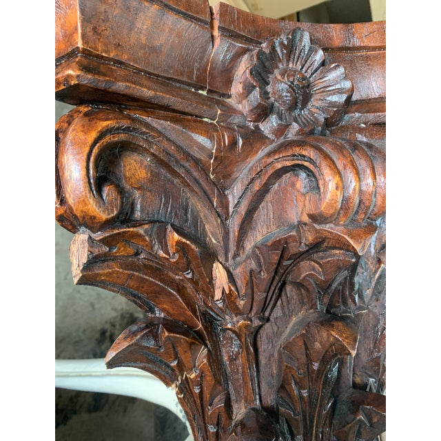 Antique Corinthian Style Carved Mahogany Columns - a Pair For Sale - Image 12 of 13