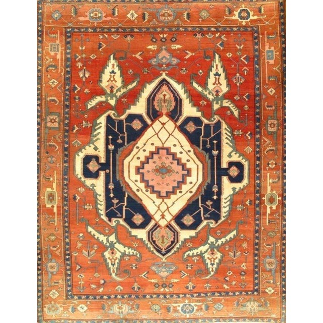 Islamic Pasargad Genuine Persian Bakhshayesh Hand-Knotted Rug - 10′ × 13′3″ For Sale - Image 3 of 3