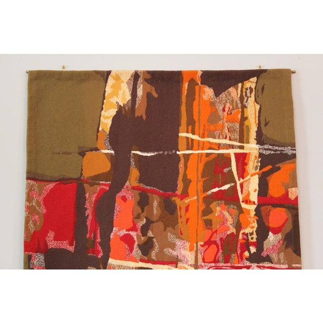 """Red Mathieu Matégot Tapestry Titled """"19 Composition"""" For Sale - Image 8 of 10"""