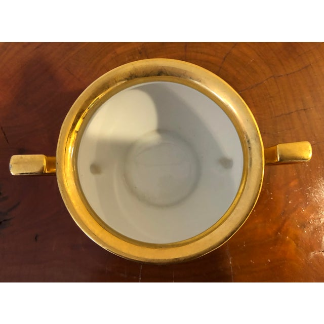 Early 20th Century Final Price! Antique Gold Floral Noritake Sugar Bowl For Sale - Image 5 of 6