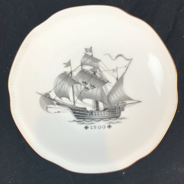 Mid 20th Century Rostrand Ship Porcelain Plates - Set of 11 For Sale - Image 5 of 11
