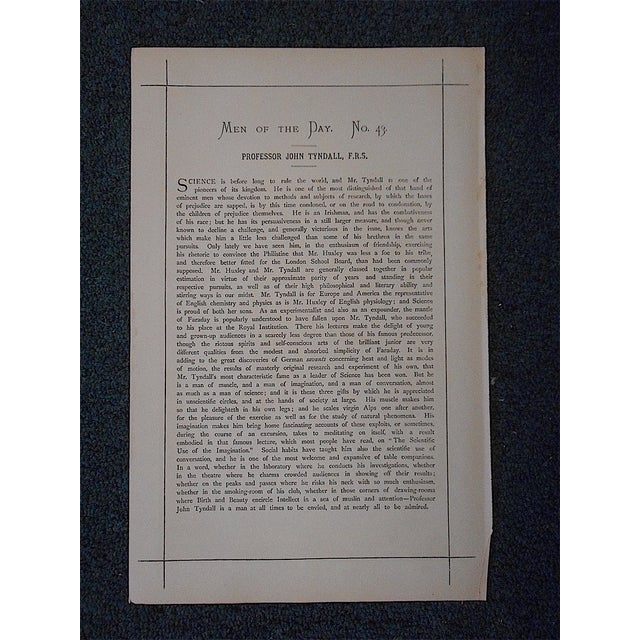 Traditional Antique Vanity Fair Lithograph For Sale - Image 3 of 3