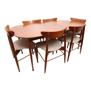 1950s Danish Modern Stanley Dining Set - 7 Pieces For Sale