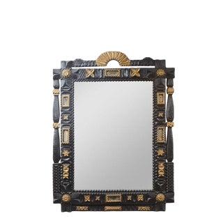 Large 19th C. Folk Art Mirror For Sale