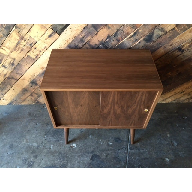 Mid-Century-Style Record Bar Cabinet For Sale - Image 5 of 5