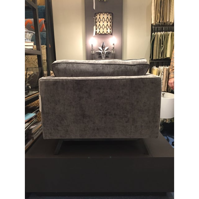 2010s Weiman Home Miles Velvet Chair For Sale - Image 5 of 9
