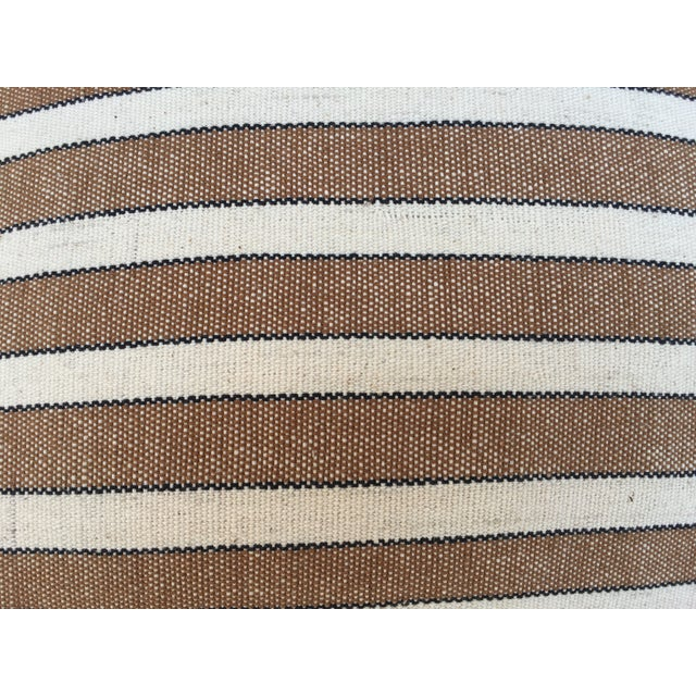 Striped Woven Neutral Pillows - Pair - Image 6 of 7