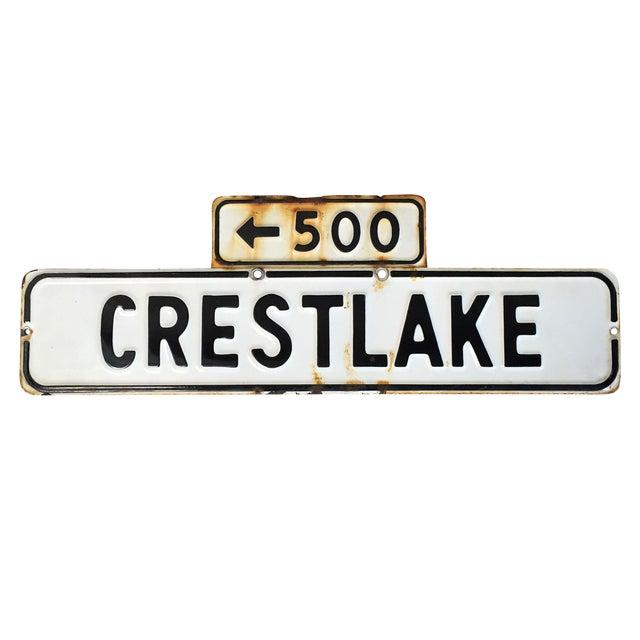 Vintage Enamel Street Sign - Crestlake - Image 1 of 4