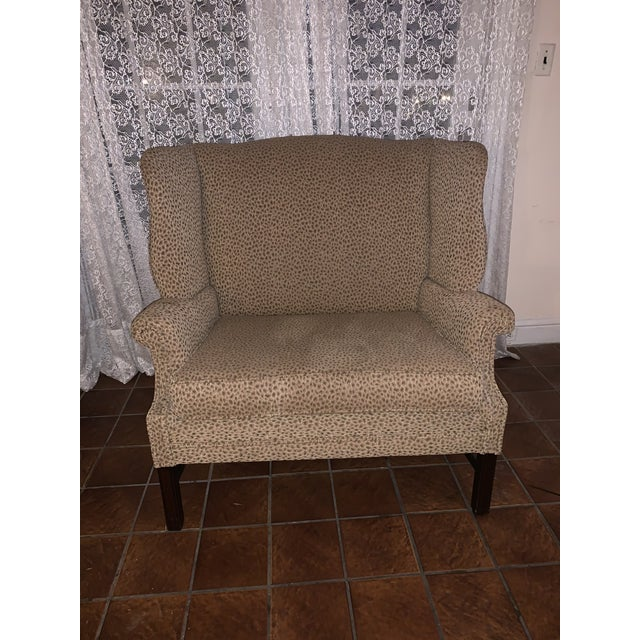 Hollywood Regency 19th Century Antique Winged High-Back Settee For Sale - Image 3 of 7