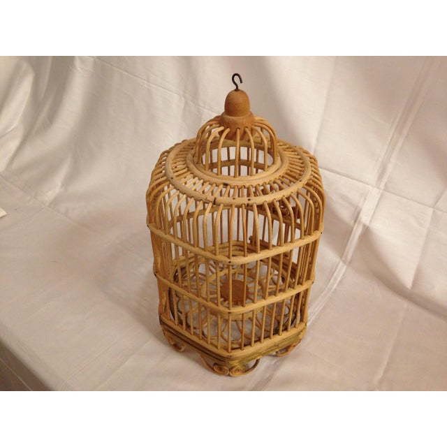 Vintage Bamboo Bird Cage - Image 3 of 6
