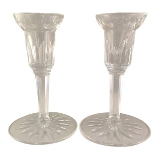 Vintage Waterford Crystal Candle Holders - a Pair For Sale