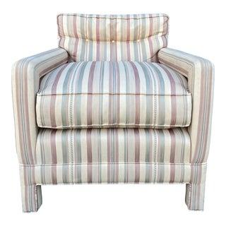 Milo Baughman Style Parsons Chair For Sale