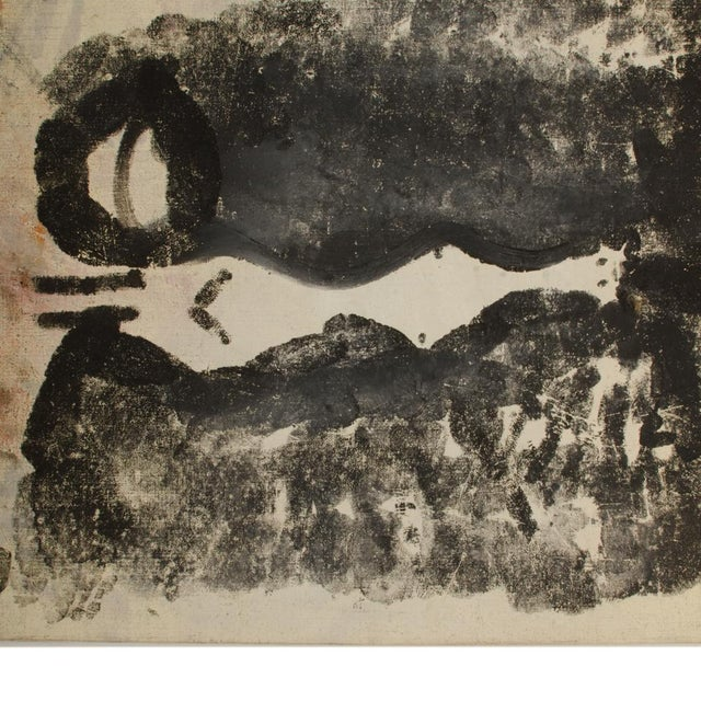 Black Mid 20th Century Abstract Figurative Female Nude Oil Painting by Newton Haydn Stubbing For Sale - Image 8 of 13