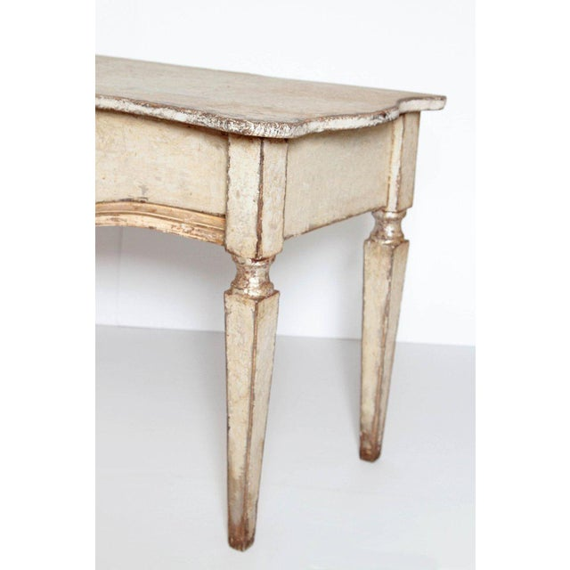 Late 19th Century Pair of French Painted and Gilt Console Tables For Sale - Image 5 of 9